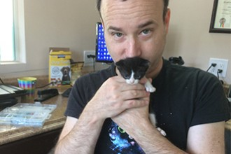 Rick Lupert and Cat